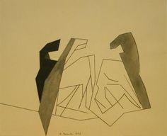 Beaudin, Three Shadows (Horses), 1953