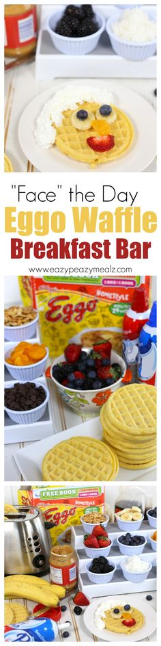 Make facing the day easier and tastier with an Eggo Waffle Bar! Simple, fun, and a great way to add fruits, nuts, and seeds to your kid's diet! #ad #EggoWaffleBar - Eazy Peazy Mealz