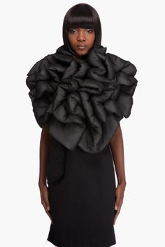 Soft Sculpture - black dress with padded, layered & twisted 3D textures // Comme des Garçons