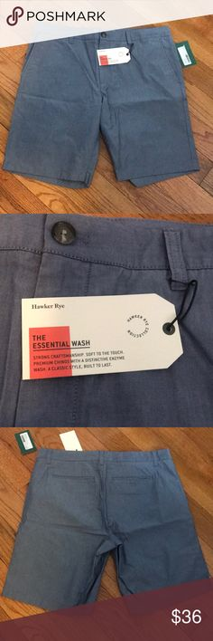Brand New Hawker Rye men's Chino Shorts Never worn! Great condition, Essential Wash chino shorts, light blue Hawker Rye Shorts