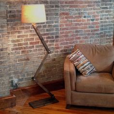 Urban Floor Lamp Chic and Unique by AWalkThroughTheWoods on Etsy, $209.00