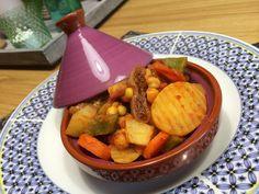 Tajine met aardappel, groenten en Râs al hânout