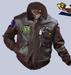 AVG Flying Tigers G-1 leather flight jacket. Leather jacket includes CBI  patch 0af52908557