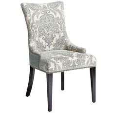 Pier 1: Adelle Dining Chair - Blue Damask