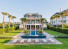 South Carolina's Beach House with Rustic Coastal Interiors - Isle of Palms, SC
