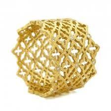 wedding band gold lattice - Google Search