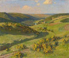 Fritz von Wille: Ginsterblüte in der Eifel aus unserer Rubrik: Gemälde des 19. Jahrhunderts