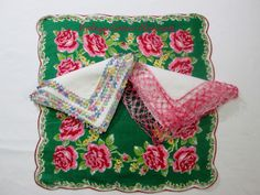 Pink and Green Hankies