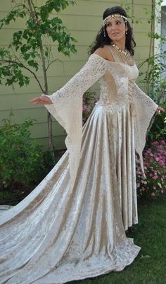Medieval or Gothic Velvet and Lace Custom by RomanticThreads, $525.00
