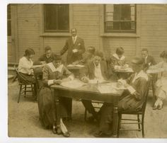 Students in outdoor classroom. :: KHS Digital Collections 1900-1910
