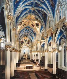 Catholic Basilica of the Sacred Heart, University of Notre Dame, Notre Dame, Indiana