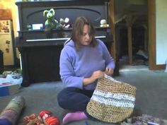 """""""Plarn"""" ~ Anne Walkden, """"The Fiber Geek"""" (on Facebook), shows how to turn discarded plastic grocery bags into useful and colorful items by making plastic yarn, or """"Plarn"""" out of them. She shows a variety of items made with plarn that you can make or purchase directly from her through her home based business.  YES!"""