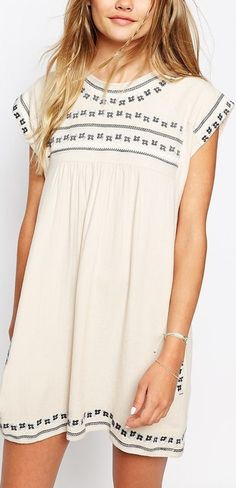 **** STITCH FIX 2017!  Get beautiful hand picked styles, just like this gorgeous off white embroidered baby doll dress today!  Gorgeous Spring Summer outfit. Simply click the link to get started, fill out your style profile and mention styles like these in your profile.  Who doesn't want their own personal stylist?!  Don't wait, start today! #StitchFix #sponsored