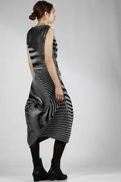 Issey Miyake | steam stretch pleated longuette  skirt in triacetate, polyester | #isseymiyake