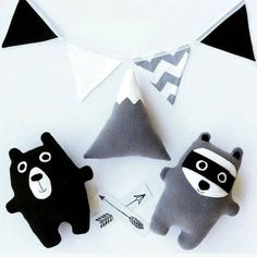 Handmade Grey and White Plush Toy Mountain / Softie / Plushie Toy / Kids Decor… - here is where you can find that Perfect Gift for Friends and Family Member Toddler Boy Birthday, Toddler Boy Gifts, Toddler Toys, Baby Toys, Softies, Plushies, Handmade Toys, Handmade Crafts, Monochrome Nursery