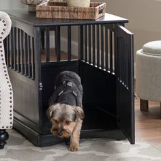 Dog Crate Kennel Cage Bed Night Stand End Table Wood Furniture Cave House Room Large size / Black. Dog Crate Kennel Cage Bed Night Stand End Table Wood Furniture Cave House Room Large size / Black. Wooden Dog Crate, Wooden Dog House, Wooden Dog Kennels, Large Dog Crate, Diy Dog Kennel, Dog Crates, Kennel Ideas, Big Dog Cage, Pet Cage