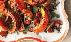 Deliciously different: Roasted Squash with Mint and Toasted Pumpkin Seeds