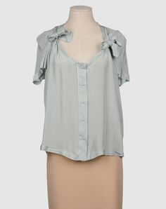 Love the lightness of this blouse - the color, the weight of the silk, the raw edges. The bows are lovely. I'm inspired to make a version in silk habotai, probably can get close to this color using Jacquard dyes Robins Egg.