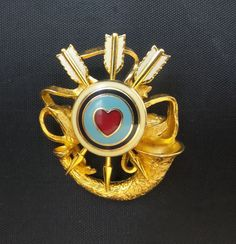 Joan Rivers Hunting for Love Pin  Heart Target by SCLadyDiJewelry