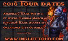 Encre vie Tour de Oklahoma City  07 - 09 Octobre 2016