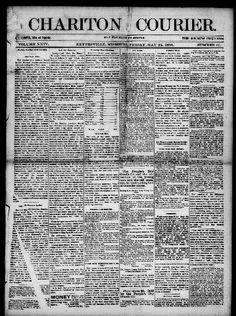 Chariton courier. (Keytesville, Chariton County, Mo.) 1878-current, May 24, 1895, Image 1 « Chronicling America « Library of Congress