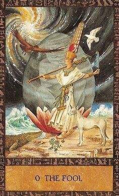 O. The Fool - Ancient Egyptian Tarot by Clive Barrett