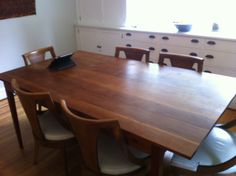 Dining room table I made several years ago.  I got some cherry that was headed to the dump, so it needed a lot of work.