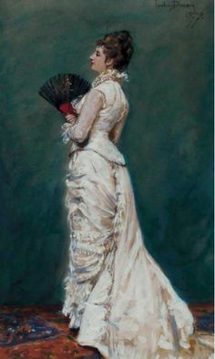 Unknown Lady by Charles Emile Auguste Carolus-Duran. 1877.