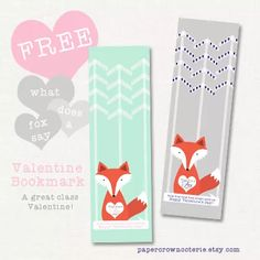 What does a fox say? Ring-ding-ding-ding-dingeringeding! Happy Valentines Day! | Paper Crown Coterie|printable party supplies| birthday invitations