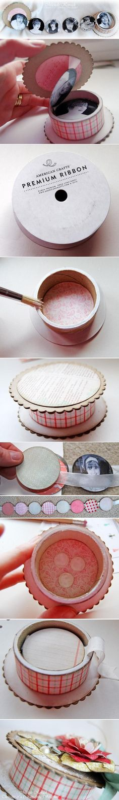 So cute and who doesn't have these ribbon spools ...