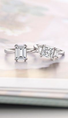 In the new Monaco Collection, alluring details like claw prongs and delicately sculpted bands illuminate the center gemstone, emphasizing the artistry of each design.