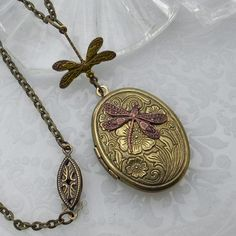 dragonfly locket.  This is beautiful!