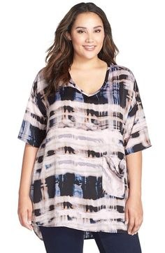 MELISSA+MCCARTHY+SEVEN7+Print+One-Pocket+Tee+(Plus+Size)+available+at+#Nordstrom