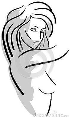 An image representing a stylized woman. An idea to talk about sport, health, fitness or beauty for women and girls