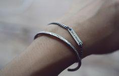 [키스앤텔] Hand stamped chain bracelet