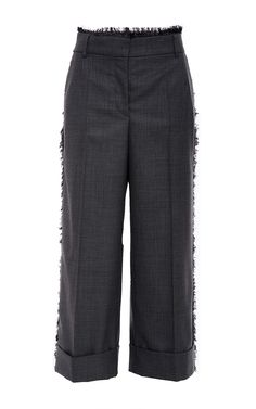 Fray Twill Low Rise Sack Trouser by THOM BROWNE for Preorder on Moda Operandi