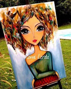 """Presence"" 80 x - romi_lerda_art Afrique Art, Frida Art, Rock Painting Patterns, Painted Rocks Kids, Painting & Drawing, Painting Videos, Art Journal Inspiration, Whimsical Art, Pebble Art"