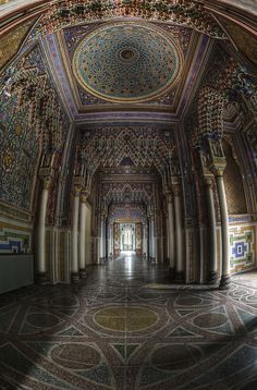 Abandoned castle Italy