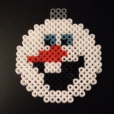 Olaf Frozen Christmas bauble hama beads by adorinepics