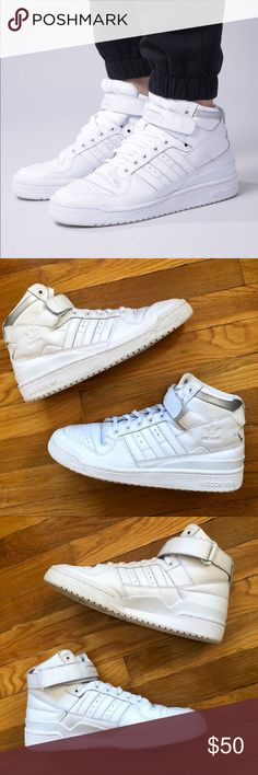 sale retailer 76bf4 d9ab8 Adidas Forum Mid Refined Sneakers Adidas Forum Mid Refined Sneakers Great  Condition 🚫 Trades 🚫 Modeling