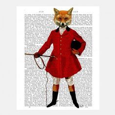 #Fox Hunter 2 - #Historic #Wall #Art - Home Decor - Home + Gift
