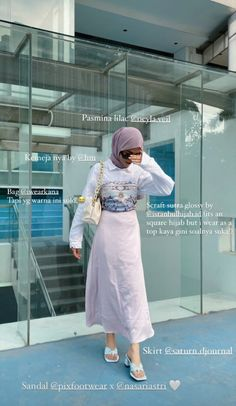 Casual Hijab Outfit, Casual Outfits, Fashion Outfits, Korean Girl Fashion, Muslim Fashion, Modest Outfits Muslim, Hijab Fashion Inspiration, Korean Outfits, Simple Outfits
