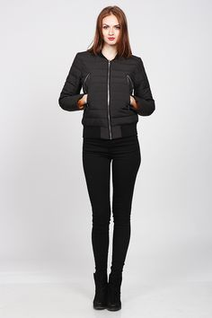 Black jacket, winter outfit