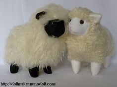 Free sewing pattern for toy sheep