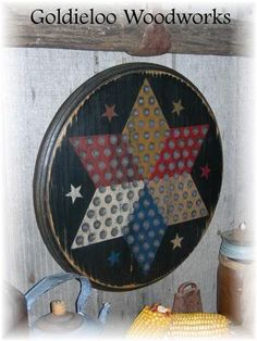 Round Star Chinese Checkers Game Board by GoldieLooWoodworks, $75.00