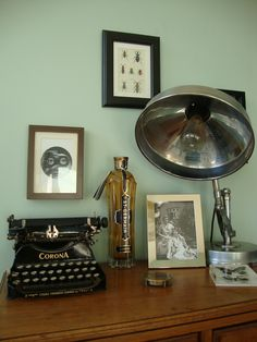 Our Eclectic Flea Market Vintage Deco Living Room. Farrow And Ball Teresau0027s  Green, Fornasetti