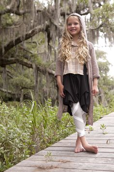The Camerton Convertible Dress || Black The Ribbon Legging || Gray The Laurel Shirt || Golden The Charlie Hoodie || Mud