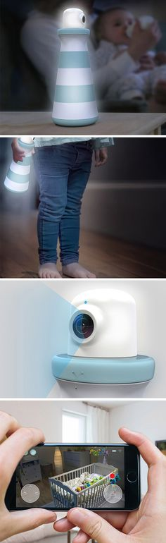 Lümin combines both, night lights and baby monitors into one hybrid unit designed to grow up with baby.