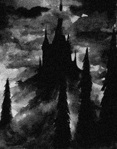 the castle where draven and morgana lives Gothic Aesthetic, Aesthetic Art, Beautiful Dark Art, Satanic Art, Dark Artwork, Arte Obscura, Grunge Art, Occult Art, Dark Photography