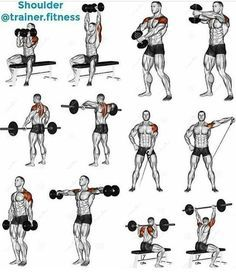 shoulder workout training  healthy fitness routine arms